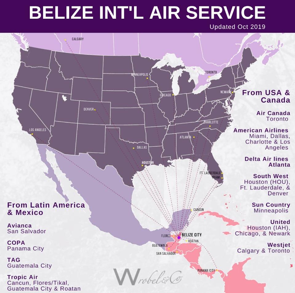 direct flights to Belize - llc formation Belize real estate lawyer